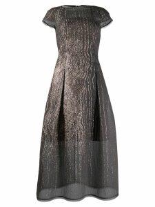 Talbot Runhof curve organza cloqué dress - Grey