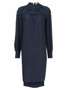 See By Chloé floral embroidered shift dress - Blue
