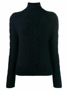 Joseph high neck chunky knit jumper - Blue