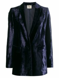 Semicouture velvet blazer - Blue