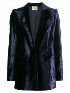Semicouture velvet blazer - Blue