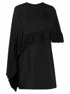 Valentino asymmetric poncho-style short dress - Black