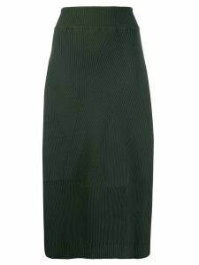 Zucca ribbed pull-on skirt - Green