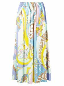 Emilio Pucci Hanami Print Midi Skirt - White