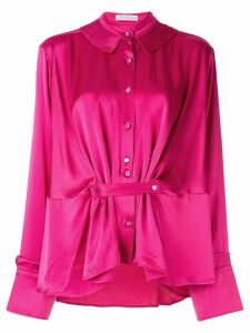 Palmer / Harding satin gathered blouse - Pink
