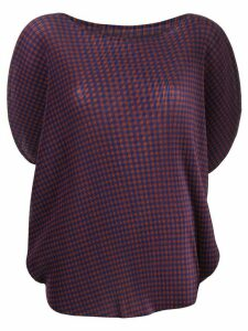 Pleats Please Issey Miyake checked pleated T-shirt - Black