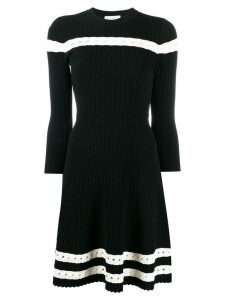 Alexander McQueen knitted skater dress - Black