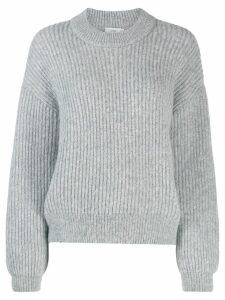 Closed ribbed knit jumper - Grey