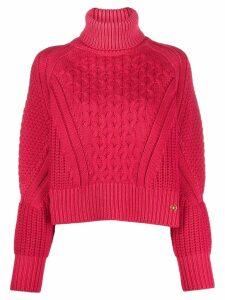 Elisabetta Franchi cropped turtleneck jumper - Pink
