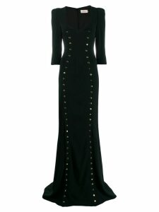 Murmur studded long dress - Black