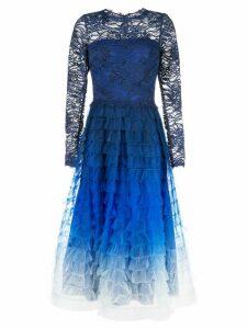 Tadashi Shoji ombré flared dress - Blue