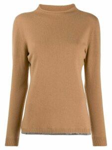 Fabiana Filippi long-sleeve fitted sweater - Neutrals