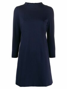 Semicouture long-sleeve mini dress - Blue