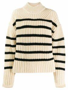 Essentiel Antwerp oversized striped jumper - NEUTRALS