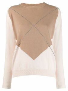 Peserico contrast fitted sweater - Neutrals
