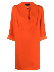 Erika Cavallini draped shift dress - Orange