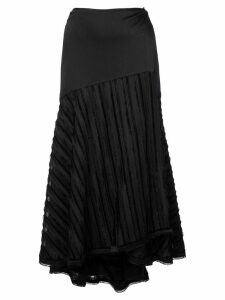 Alexis paneled asymmetric skirt - Black