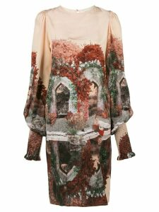 Fete Imperiale Narcisse silk dress - Pink