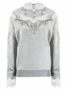 Ermanno Scervino lace panel jumper - Grey