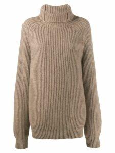 Haider Ackermann ribbed knit jumper - Neutrals