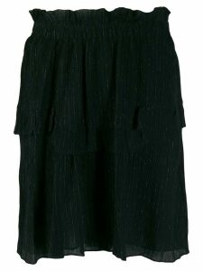Isabel Marant glittery striped layered skirt - Black