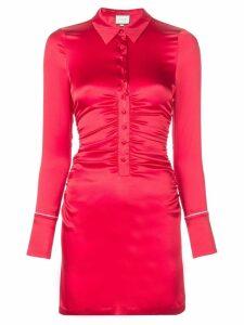 Alexis Jorja shirt mini dress - Red