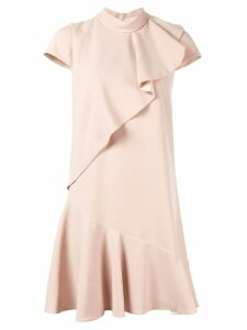 Paule Ka ruffle-trim midi dress - Pink