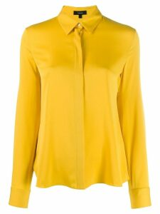 Theory concealed button up shirt - Yellow