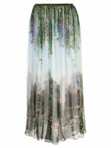 Fete Imperiale Maia garden silk skirt - Blue