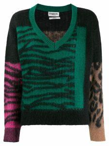 Essentiel Antwerp Tribolibis pattern mix jumper - Green