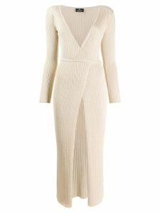 Elisabetta Franchi V-neck wrap dress - Neutrals