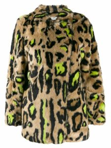 Apparis faux-fur leopard coat - Neutrals