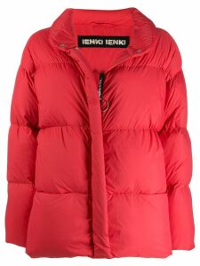Ienki Ienki zip trim puffer jacket - Red