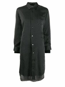 Junya Watanabe polka-dot shirt dress - Black