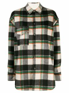 Tela checked shirt jacket - Black