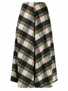 Tela flared checked skirt - Black