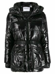 DKNY belted puffer jacket - Black