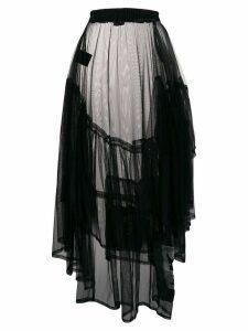 Barbara Bologna asymmetric flared skirt - Black