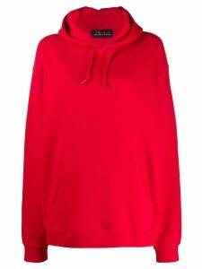 Barbara Bologna graphic print hoodie - Red