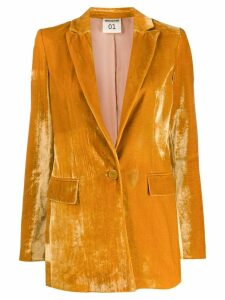 Semicouture velver blazer - Yellow
