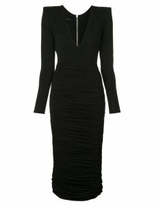 Alex Perry Clove ruched fitted dress - Black
