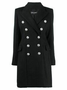 Balmain Double-breasted wool coat - Black