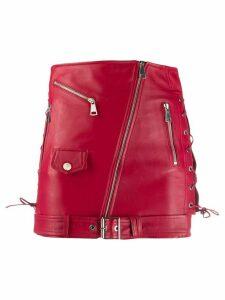 Manokhi biker-style mini skirt - Red