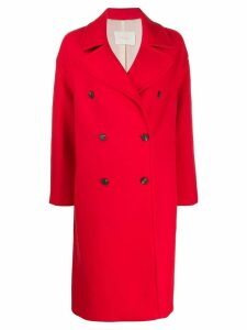 Tela double breasted coat - Red