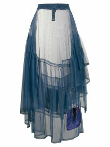 Barbara Bologna asymmetric flared skirt - Blue