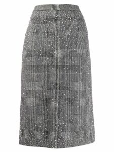 Ermanno Scervino stud-embelished houndstooth skirt - Black
