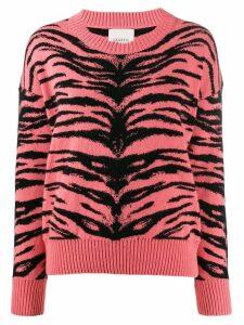 Laneus tiger stripes sweater - Pink