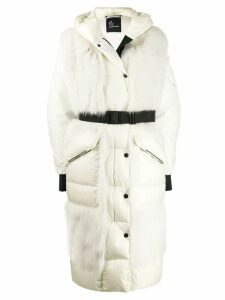 Moncler Grenoble long padded coat - White