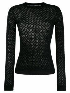 Dolce & Gabbana diamond knitted jumper - Black