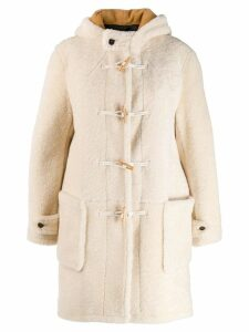 Saint Laurent shearling duffle coat - White